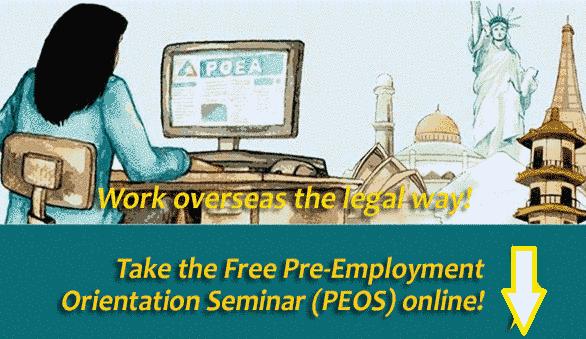 POEA Free Pre-Employment Orientation Seminar