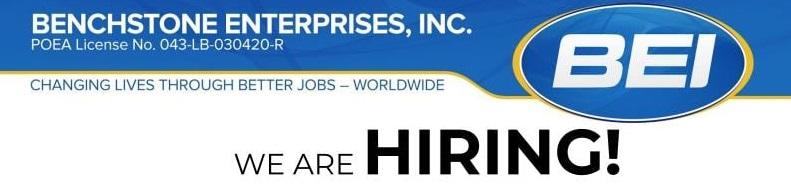 Benchstone Job Hiring